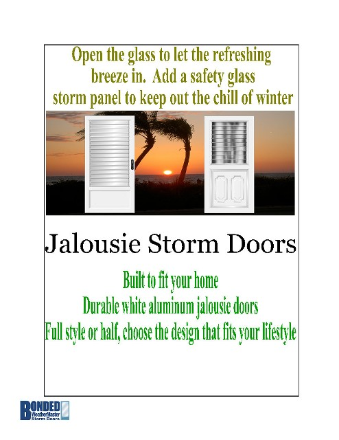 Easy to use practical and attractive!  sc 1 st  Bonded WeatherMaster Storm Doors & Jalousie Storm Doors